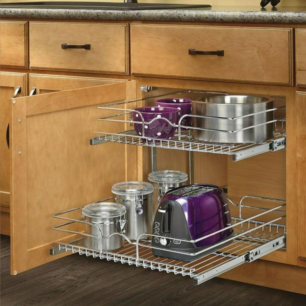 2 Tier Wire Basket Cookware Cabinet