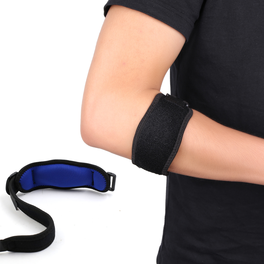 APTOCO Authorized Adjustable Elbow Brace Support Strap Band for Tendonitis w Compression Pad