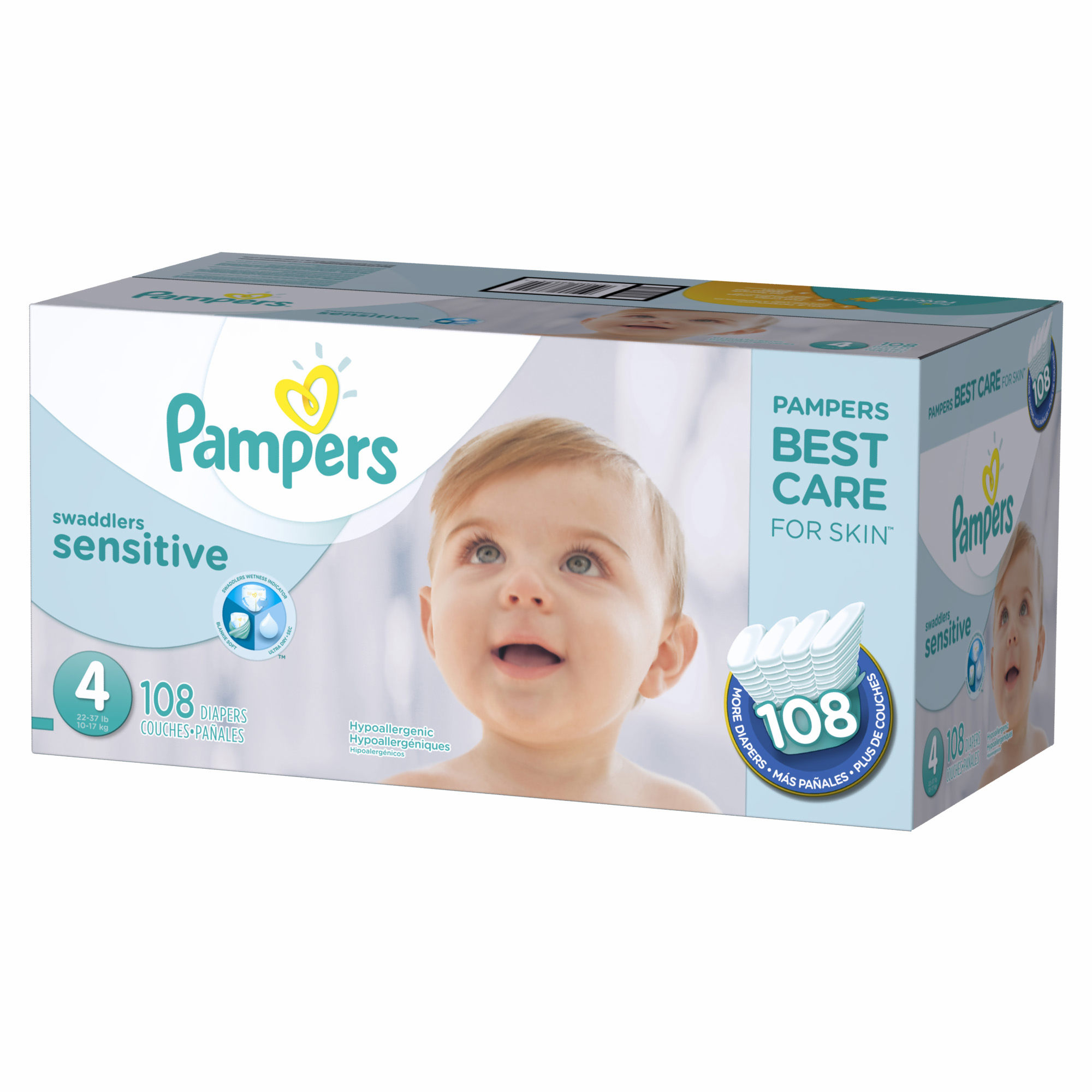 Pampers Swaddlers Sensitive Size 4 Diapers, 108 ct. (diapers - Wholesale Price