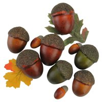 Northlight Autumn Harvest 10 Piece Artificial Acorn and Leaf Thanksgiving Decoration Set