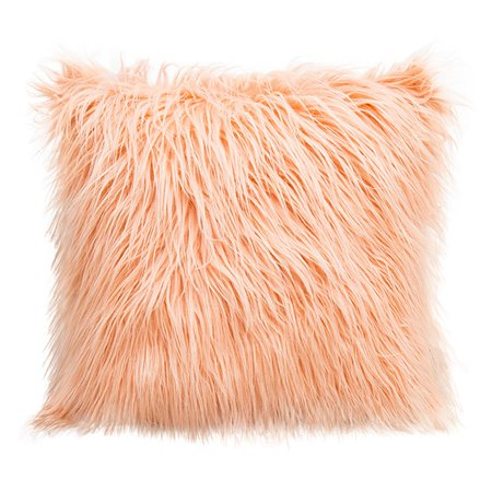 Fluffy Plush Square Waist Throw Pillow Case Sofa Cushion Cover Home Decor