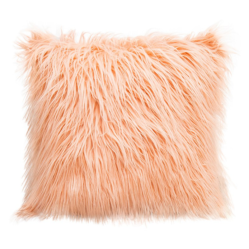 Soft Square Fluffy Plush Waist Throw Pillow Cases Cushion Cover Home Room Decors
