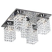 The Lighting Store Ivana 5-light Crystal Square Flush Mount Chandelier