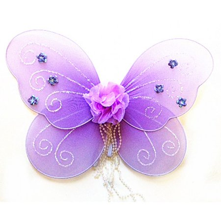 Baby Purple Rose Fairy Butterfly