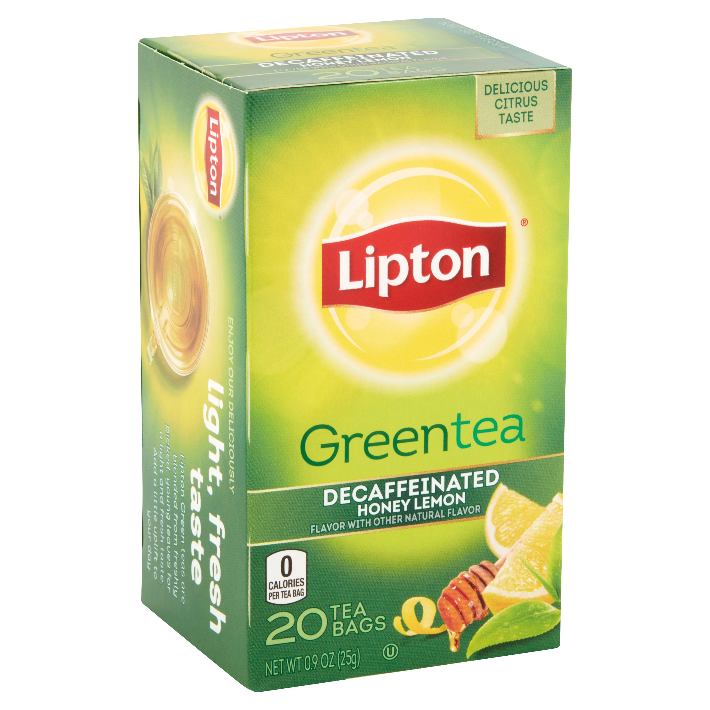 lipton greentea honey lemon tea bags 20 count 09 oz walmartcom