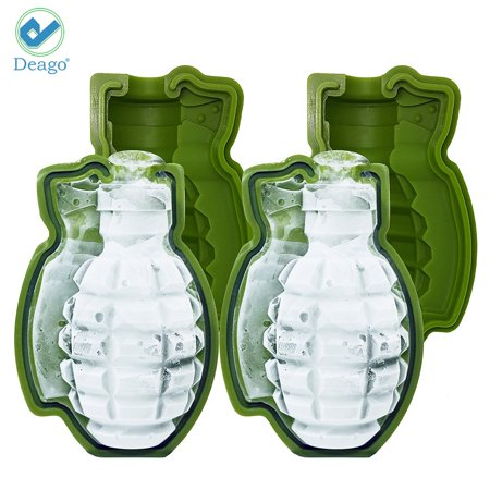 3D Grenade Ice Cube Mold Maker Silicone Tray Great Bar Party Military Mens Gift DIY