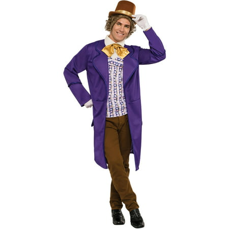 Deluxe Willy Wonka Adult Halloween Costume for $<!---->