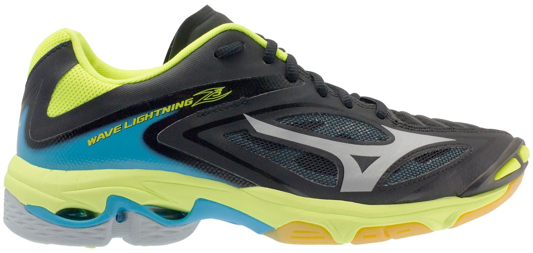 mizuno volleyball shoes black and yellow yellow