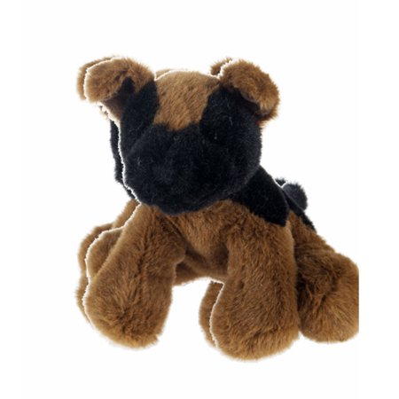 Soft Spots Mini Black and Brown Puppy Plush Toy - By Ganz