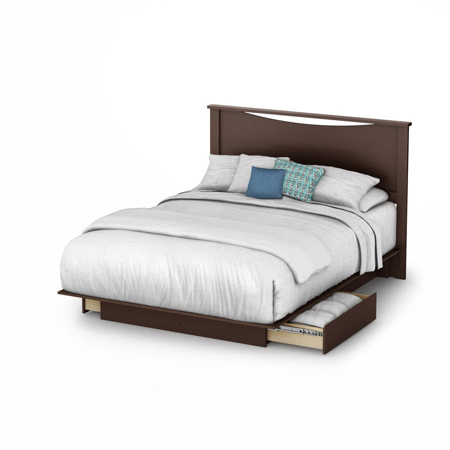 south shore soho fullqueen storage platform bed with 2 drawers multiple finishes walmartcom