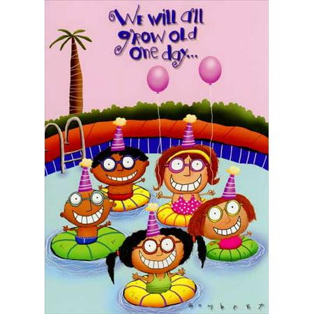 Oatmeal Studios Kids In Swimming Pool Funny Humorous Birthday Card