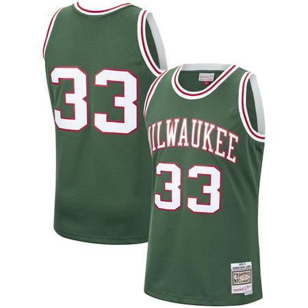 Mitchell & Ness Basketball Jersey - Kareem Abdul-Jabbar Milwaukee Bucks Mitchell & Ness 1970-71 Hardwood Classics Swingman Jersey - Hunter Green
