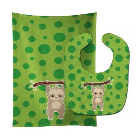 Sloth 2 Baby Bib Burp Cloth