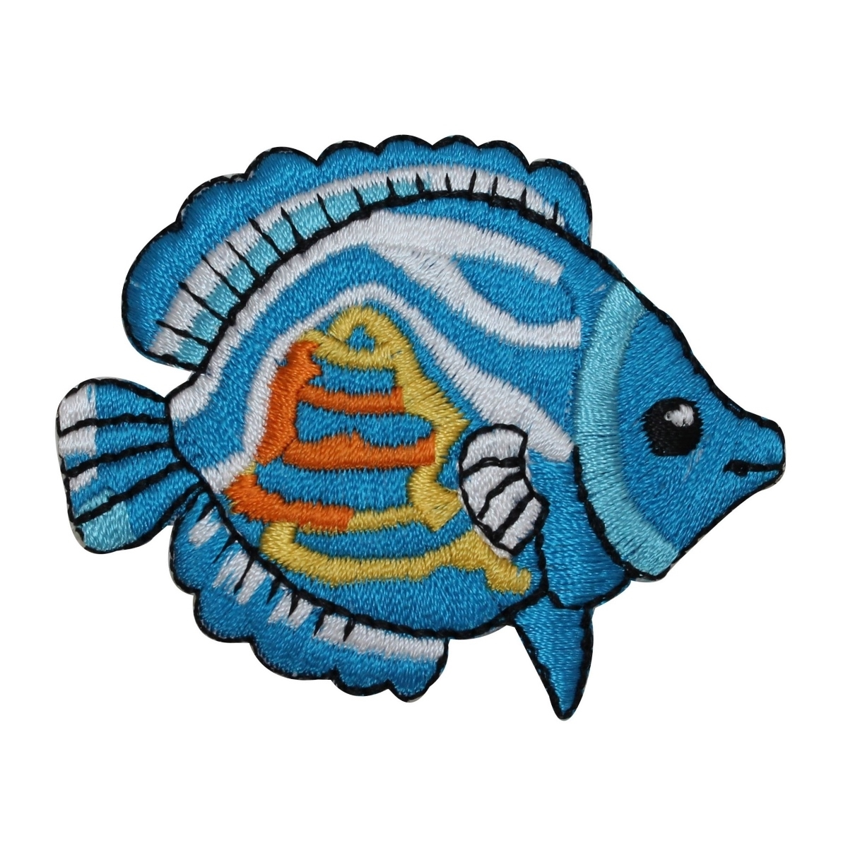 ID 0182B Large Tropical Fish Patch Ocean Animal Embroidered Iron On Applique