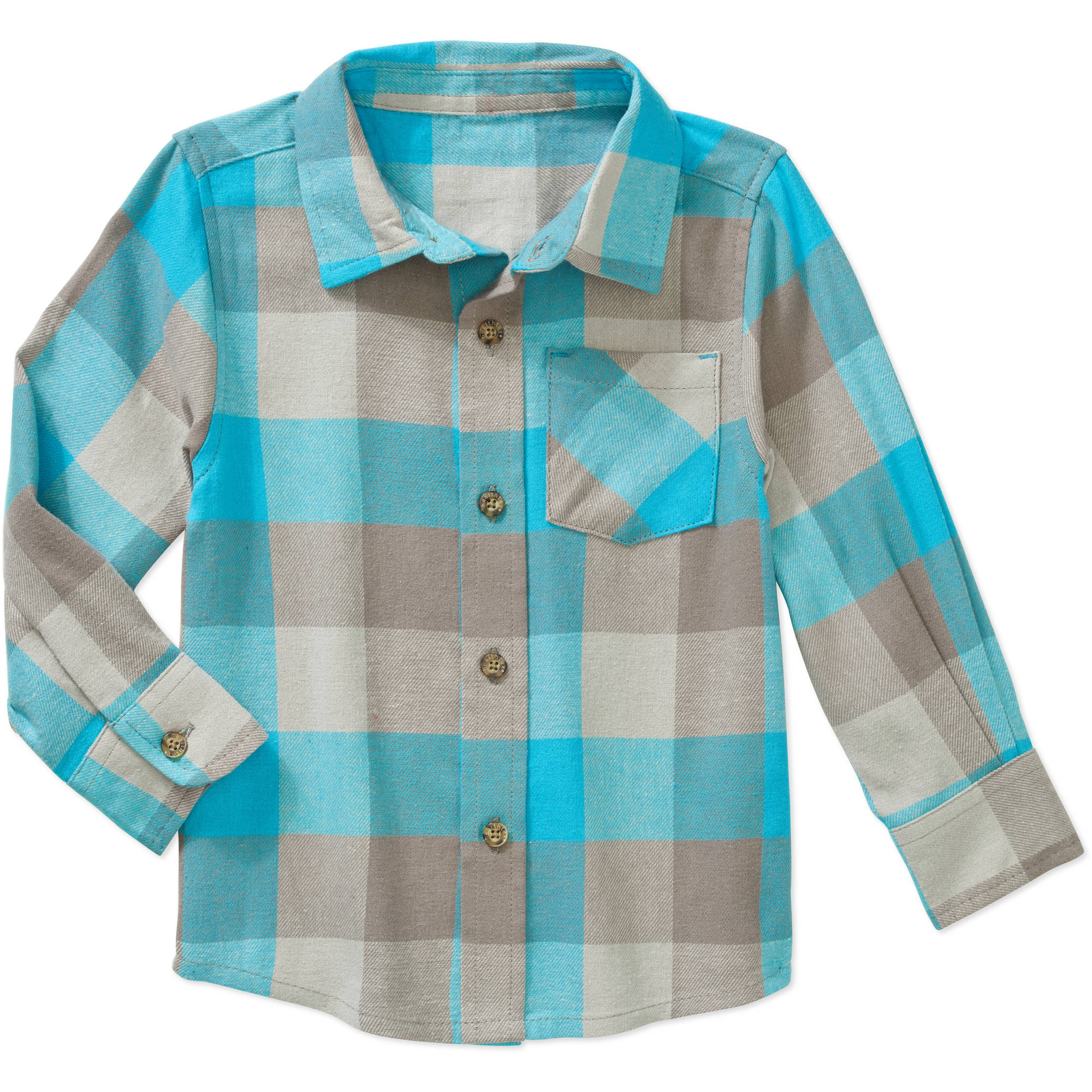 Healthtex Baby Toddler Boy Long Sleeve Flannel Shirt