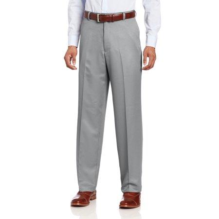 IZOD NEW Silver Nickel Gray Mens 36x34 Flat-Front Microfiber Golf Pants