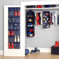 Mainstays Kids 4-Piece Complete Closet Organizer Set, Navy Blue
