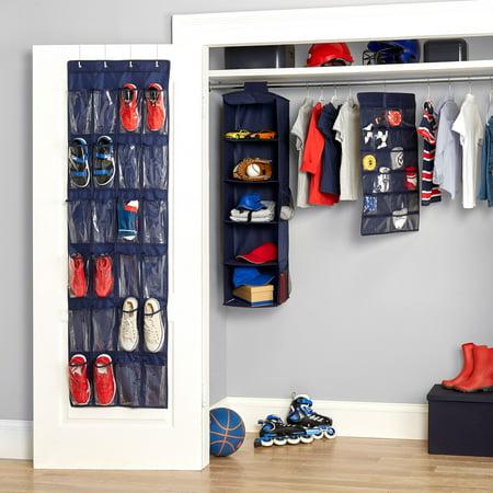 Mainstays Kids 4-Piece Complete Closet Organizer Set, Navy Blue ()