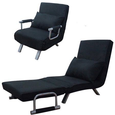 Zimtown Sofa Bed Folding Sleeper Flip Chair Convertible Sofa Bed Lounge Couch Black ()