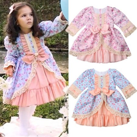 Princess Toddler Kid Baby Girl Lace Dress Party Wedding Bridesmaid Xmas - Christmas Kids Dress