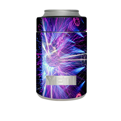 Skin Decal For Yeti Rambler Colster Cup / Laser Trance Edm Lights