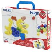 "Miniland Primary Peg Sets, 3/4"" Pegs, 100 pieces"