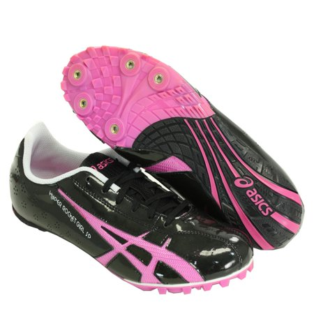 ASICS G953Y 9021 WOMENS HYPER ROCKET GIRL SP3 TRACK SPIKES BLACK & RASPBERRY 9.5