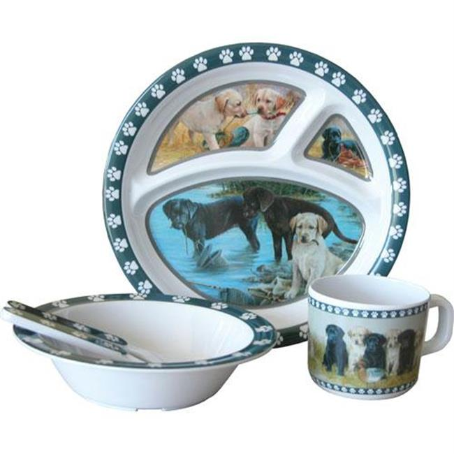 MotorHead Products MHP-MH-8907 Labrador Puppies Childs 5 Piece Table Set