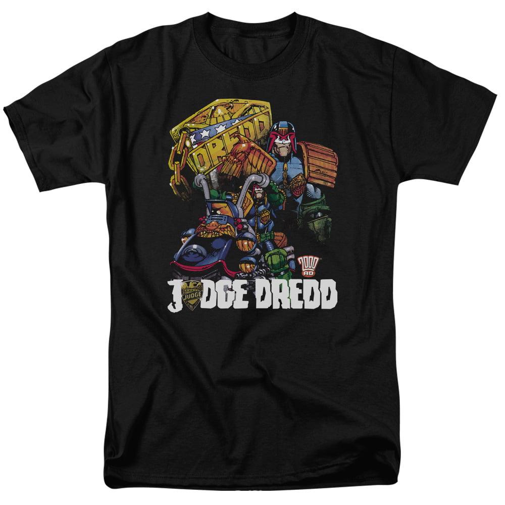 Judge Dredd/Bike And Badge S/S Adult 18/1   Black     Jd112