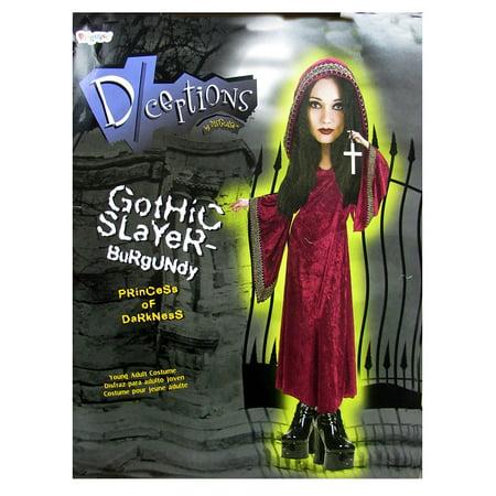 Disguise Teens 'Gothic Slayer' Halloween Costume, Burgundy, 7-9 ()