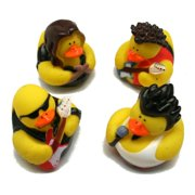 Rock Star Rubber Duckies - Party Favors - 12 Pieces