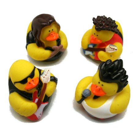 Fun Express Rock Star Rubber Duckies Toy (12 - Rubber Rock