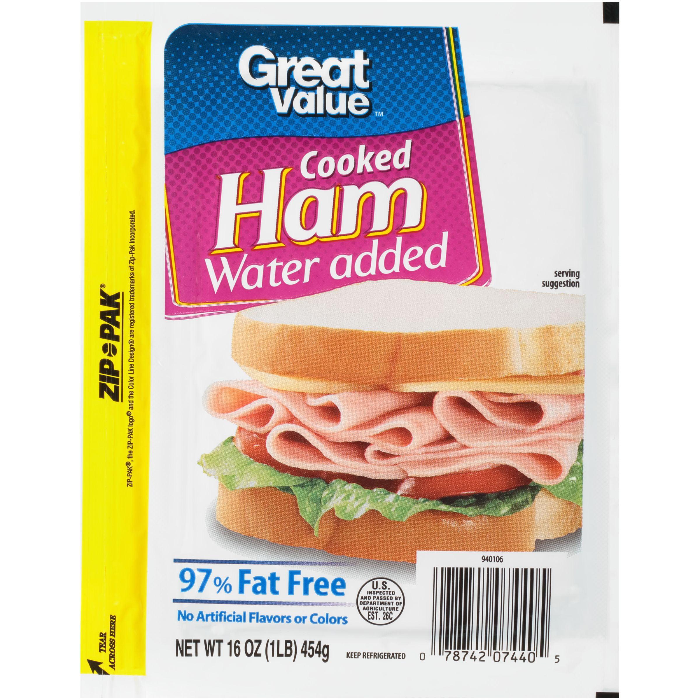 Great Value 97 Fat Free Cooked Ham 16 Oz Walmart Com Walmart Com,Lizard Dragon Drawing
