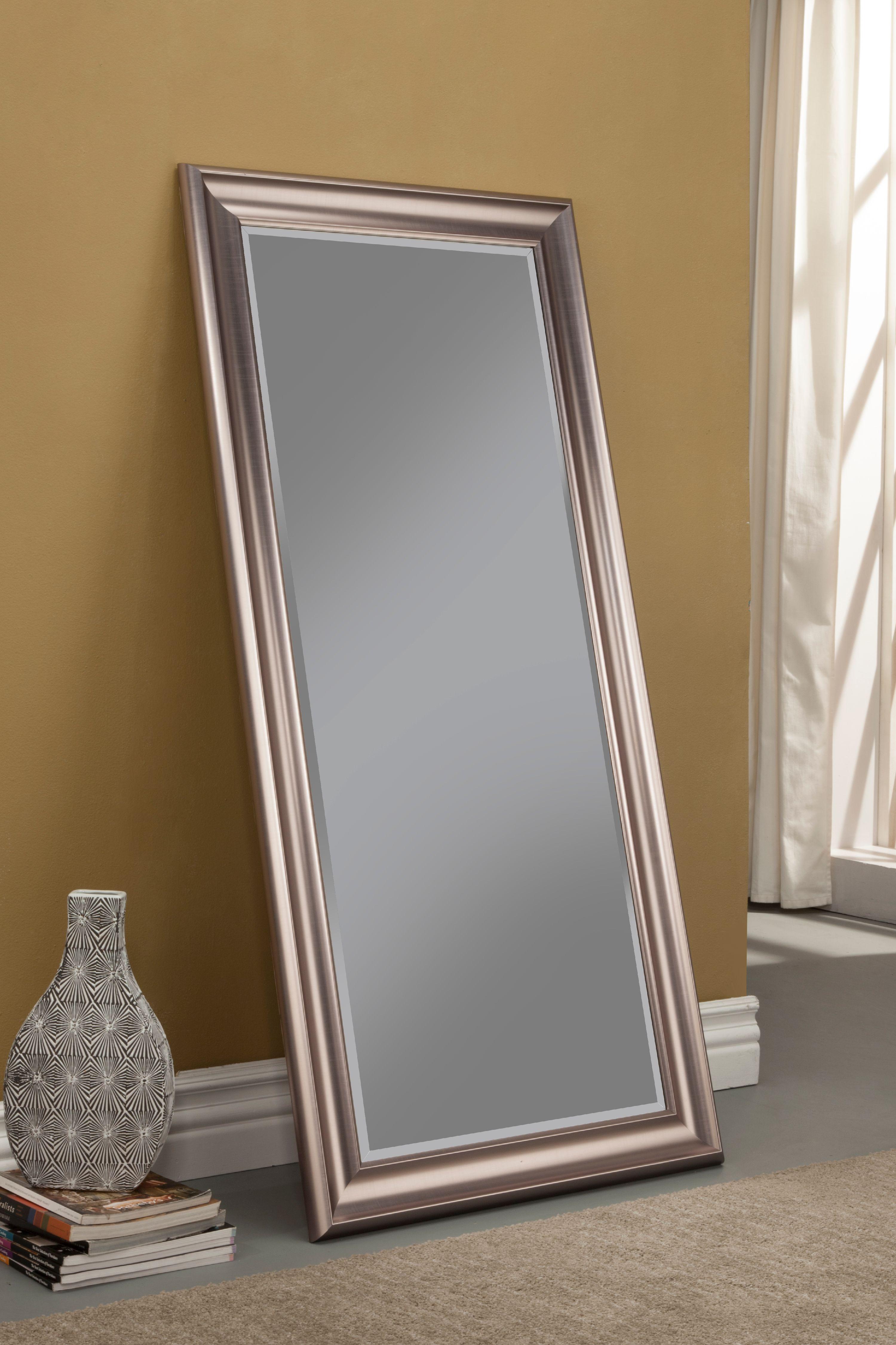 Silver Full Length Leaner Mirror by Sandberg Furniture