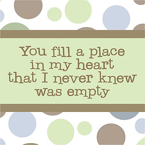 Forest Creations You Fill a Place in My Heart Kids Canvas Art