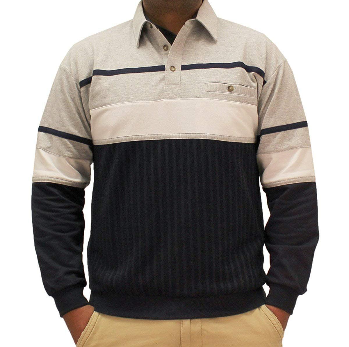 Classics by Palmland Horizontal Stripes Long Sleeve Banded Bottom Shirt