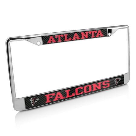 NFL Atlanta Falcons Carbon Fiber Look License Plate Frame - Walmart.com