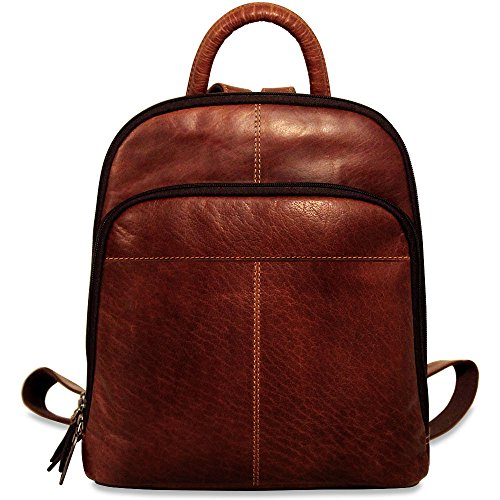 Jack Georges Voyager Collection Leather Small Backpack in Brown