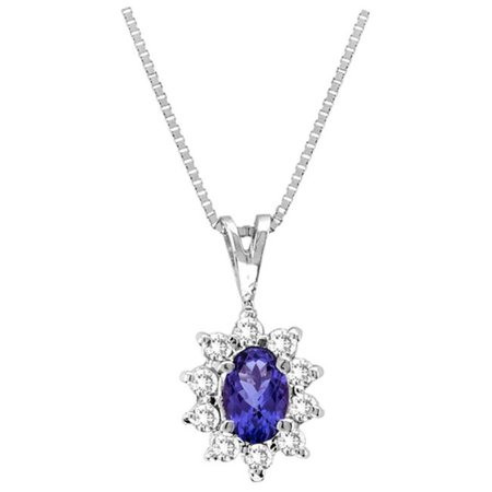 Luis Creations PA102TD 0. 35 Ct. Tanzanite And Diamond Pendant Set In 14K Gold