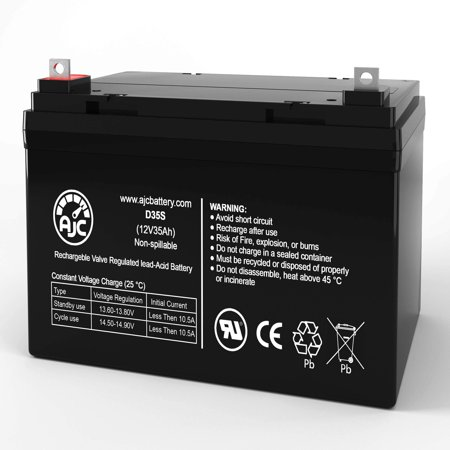 Pride Mobility TSS300 Powerchair 12V 35Ah Wheelchair Battery - This is an AJC Brand Replacement - image 1 of 6