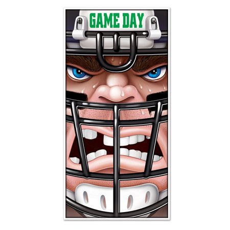 Club Pack of 12 Game Day Themed Football Door Cover Party Decorations 5'](Football Halloween Prank)