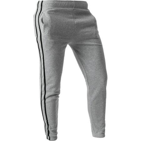 f128c0aa4 WP Mens STRIPE JOGGERS Training Lightweight Sweatpants Activewear 1WPB0001  - Walmart.com