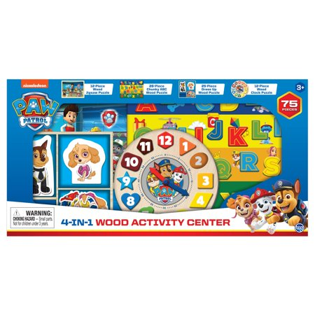 Paw Patrol 4 In 1 Wood Activity Center