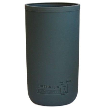Silicone Sleeve for Ball Mason Jars (Pint & Half, Charcoal Gray) - Mason Jar Accessories