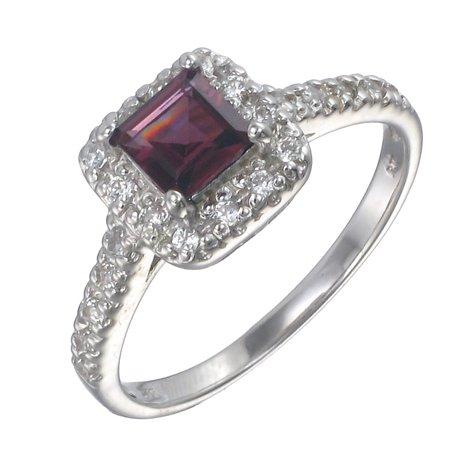 4b81ca19c Vir Jewels - Sterling Silver Garnet Ring (0.35 CT) - Walmart.com