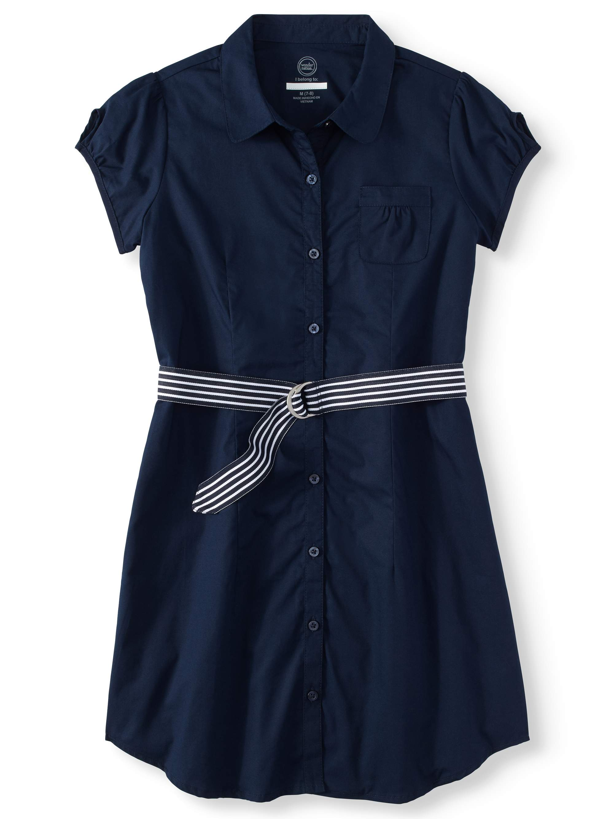 Girls School Uniform Shirt Dress