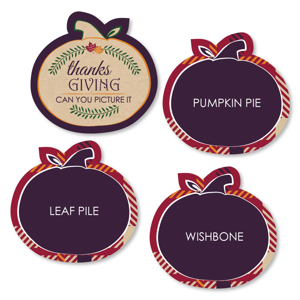 Thanksgiving Feast - Friendsgiving Party Game - Can You Picture It Card Game - Set of 24