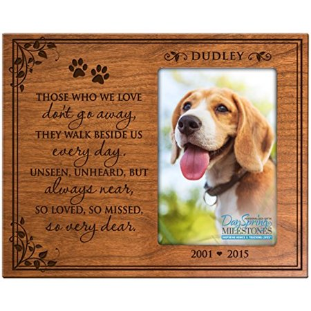 Personalized Pet Memorial Gift Sympathy Photo Frame Those Who We
