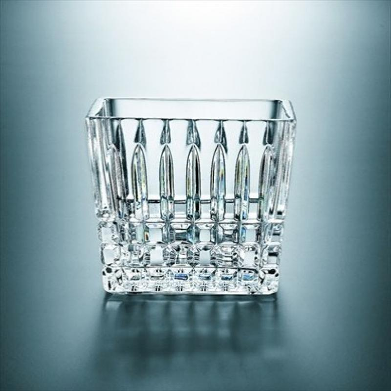 Majestic Gifts 35901-4 Bath collection 4 inch Crystal Cotton Swab Holder