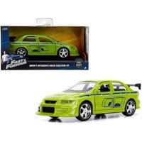 "Brian's Mitsubishi Lancer Evolution VII Green ""Fast & Furious"" Movie 1/32 Diecast Model Car by Jada"